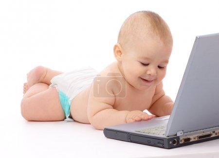 小婴儿用的笔记本电脑